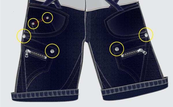 Размещаем объекты на джинсах