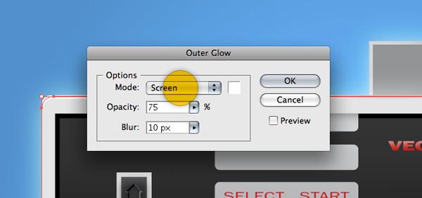 Внешнее Свечение (Outer Glow)