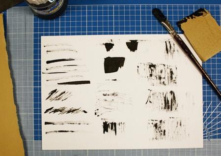 нарисованный фон с кляксами