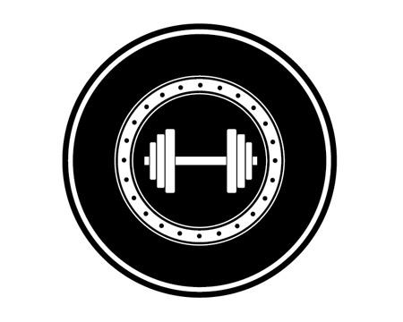 Перетаскиваем штангу на логотип