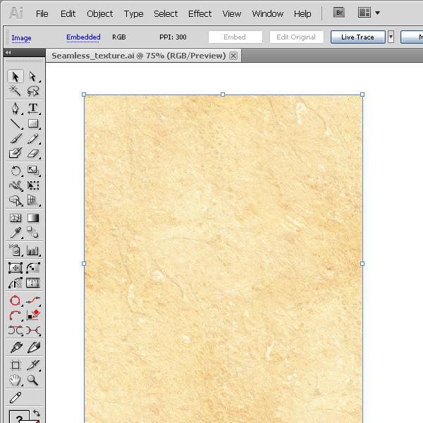 Перетаскиваем текстуру в Иллюстратор