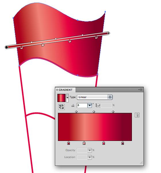 Закрасте с помощью Gradient tool (G)
