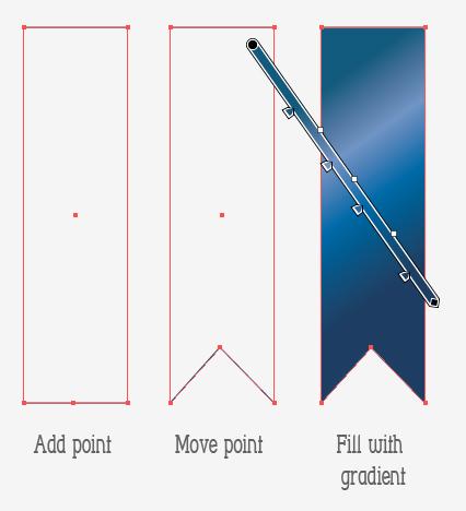 Рисуем трехцветную ленту со значком