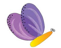 Бабочка в Illustrator готова