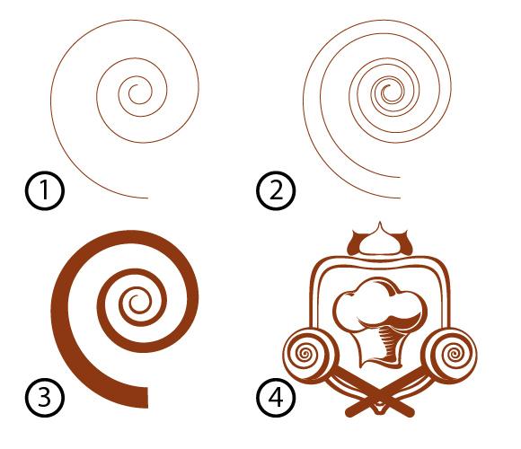 Создание заполненной формы Спираль