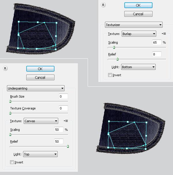 Применяем эффекты - текстуру и подмалевок