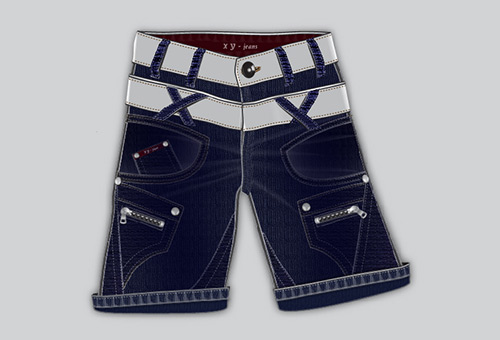 Рисуем джинсы