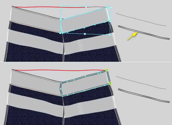 Копируем объект и вырезаем контур