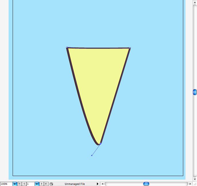 бежевый треугольник