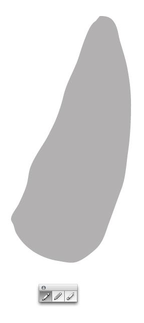 рисуем основную форму пера