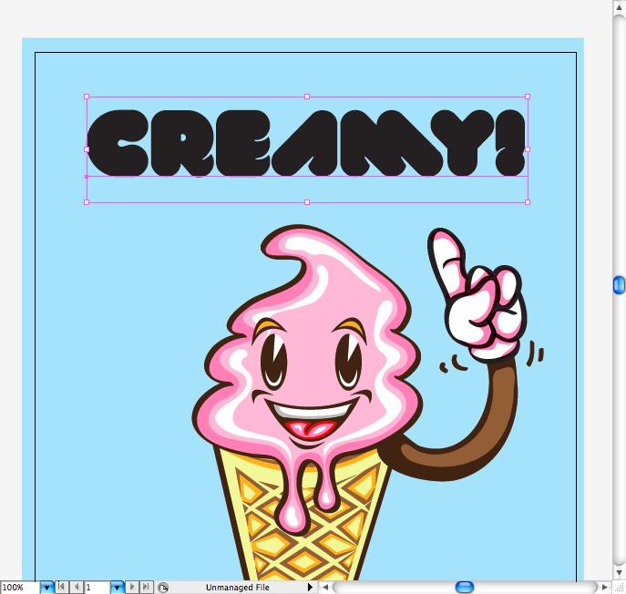 надпись Creamy