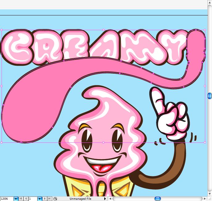 Как нарисовать изображение мороженого в Adobe Illustrator