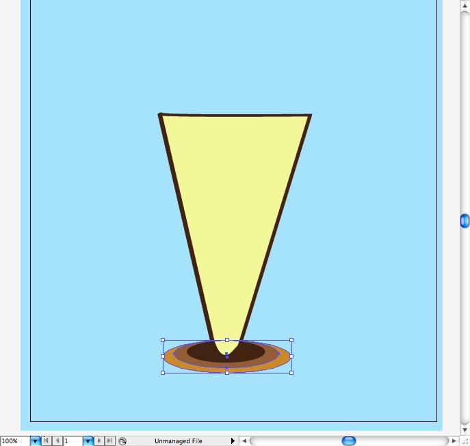 Более светлый эллипс - тень