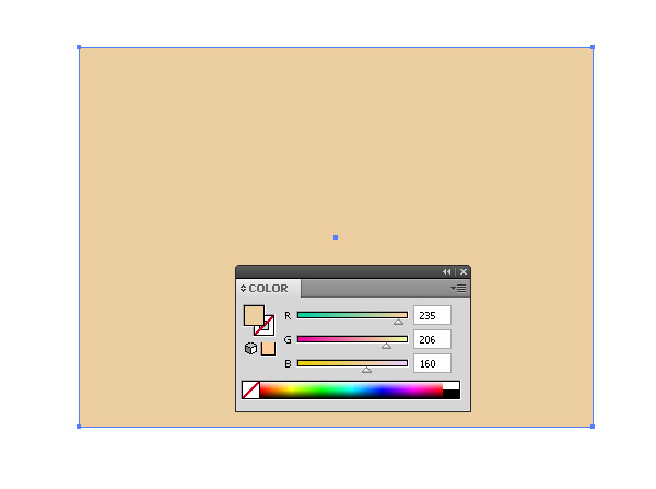 Рисуем прямоугольник и заливаем цветом